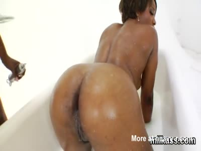 Flirty lesbians fill up their oversized asses with whipped c