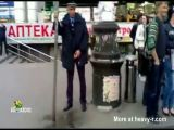 Drunk Russian Cop Pisses In Street
