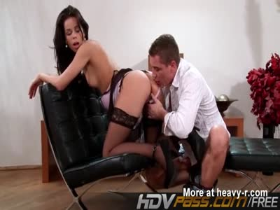 Stocking Brunette Fucked Hard