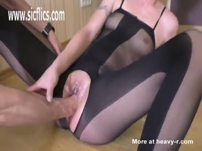 Brunette Pussy Destruction