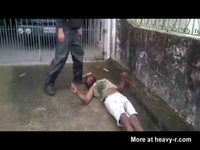 Brutally beaten thief