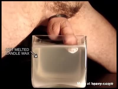 Man Puts His Penis In Hot Melted Candle Wax