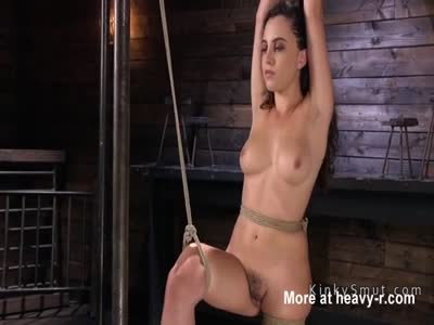 Suspended Pussy Finger Fucking