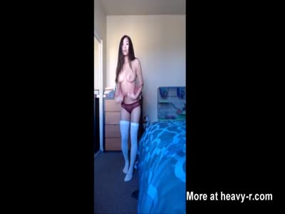 Asian Exchange Student Strips naked