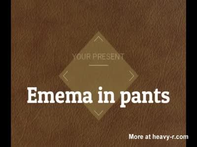 enema in black panties