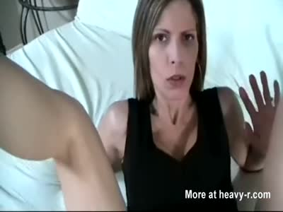 Son blackmails mom into sex