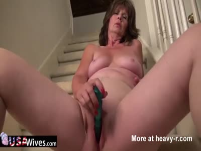 Mature Wife Masturbating On Stairs