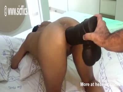 Massive BBC Dildo Destroys Ass