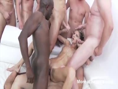 10 Men Gangbang