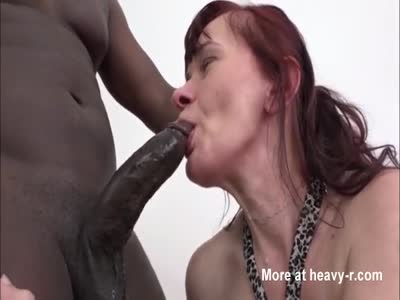 MILF interracial anal and cum in mouth
