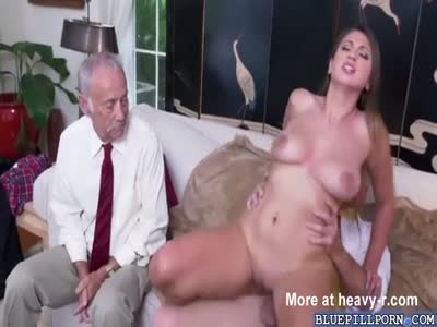Young Skank Riding Grandpa's Cock