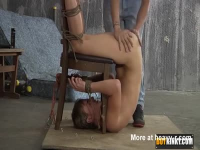 Twink tied and fucked