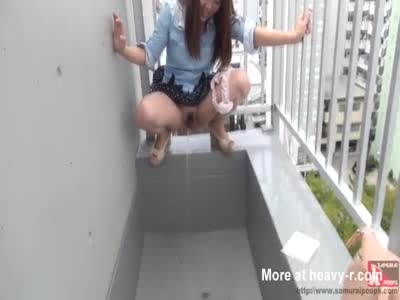 Japanese Girl Pisses Outside
