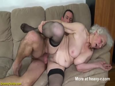Pounding Chubby 91 Years Old