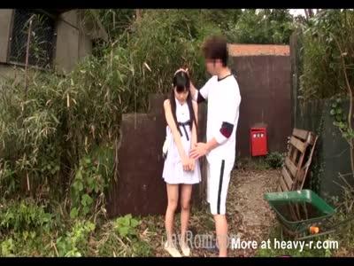 japanese tiny teen schoolgirl groped rammed outside