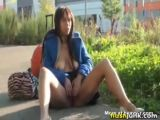 Ebony Girl Masturbating In Public