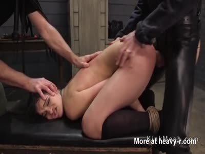 Deepthroat And Anal Fuck For Babe In BDSM