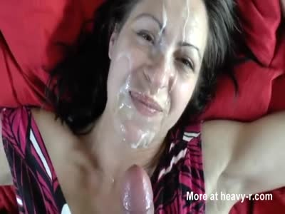 Wife messy facial