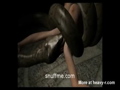 Woman Slowly Eaten By Snake