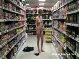Girl Gets Naked In Supermarket