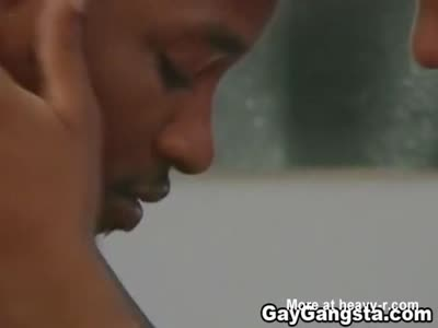 Black Gay on Intense Anal Fucking Action