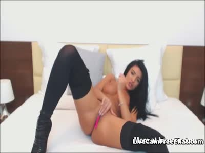 Sexy Latina Babe Masturbating With Toys and Busting Ass
