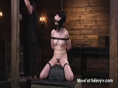 Gagged Slave Made To Ride Sybian