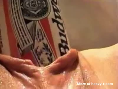 Forcing Beer Can In Pussy