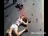 Girl dying on the road