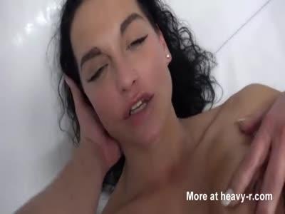 Fit brunette milf in porn casting