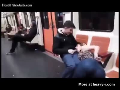 Young Dude Getting Blowjob In Subway