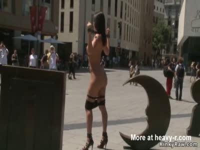 Stunning busty Euro gal fucked in public