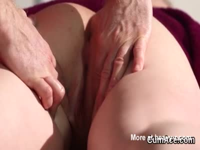 Spicy bombshell gets cum shot on her face swallowing all the