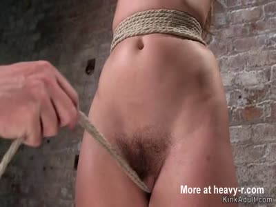 Brunette sub gets crotch rope and vibrator