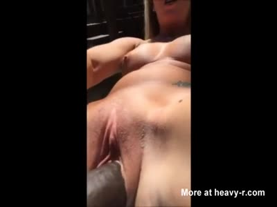 Dildos Her Pussy Outside