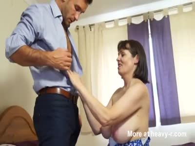 Busty British Mature Seduces Younger Guy