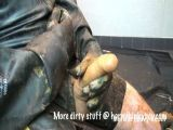 Scat Session in Heavy Rubber Gear