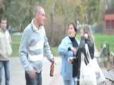 Wife smashes vodka bottle on husbands head