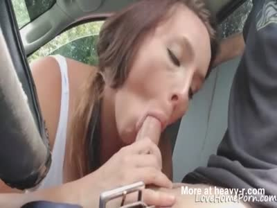 Preggo Babe Sucking Cock In Car