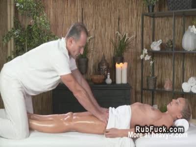 Masseur Fucks Small Tits Client