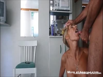 Old Slut Swallows Cum After Fuck