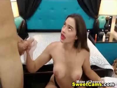 Horny Teen is a Cock Sucking Pro