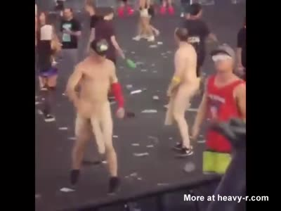 Big Dicked Guys Dancing Naked At Festival