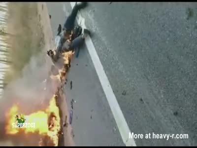 Burned Biker