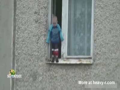 Russian Kid On window Sill