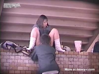 Horny Asian Teens In Outdoor Sex