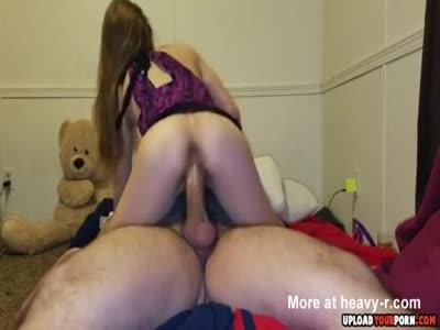 Girlfriend Riding Dick Hard