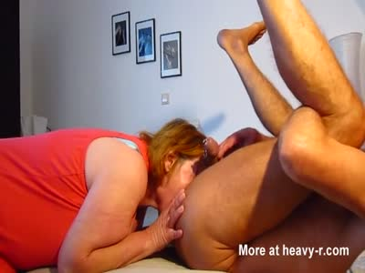 Wife licks man'ass and sucks piercied cock empty