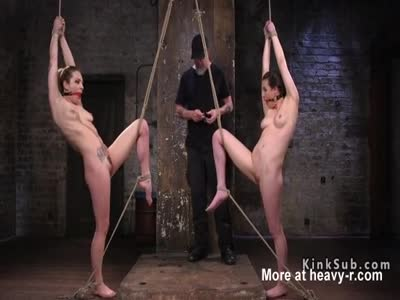 Two Slaves In BDSM Game