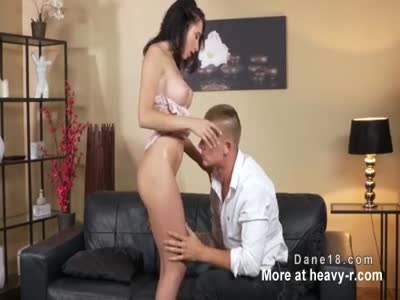 Pierced pussy brunette gets doggy style
